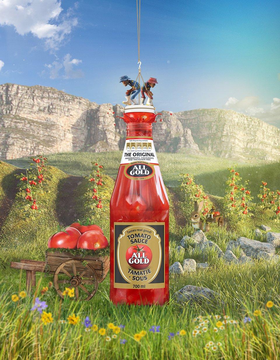 All Gold Tomato Sauce 700Ml 3