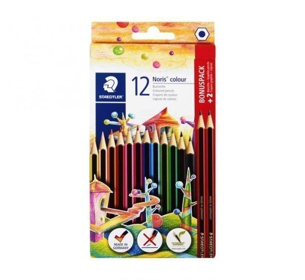STAEDTLER Colour Pencils Assorted 12 Pack + 2 HB Pencils 1
