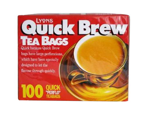 Lyons Quickbrew Tea Bags Sachets 100's 1