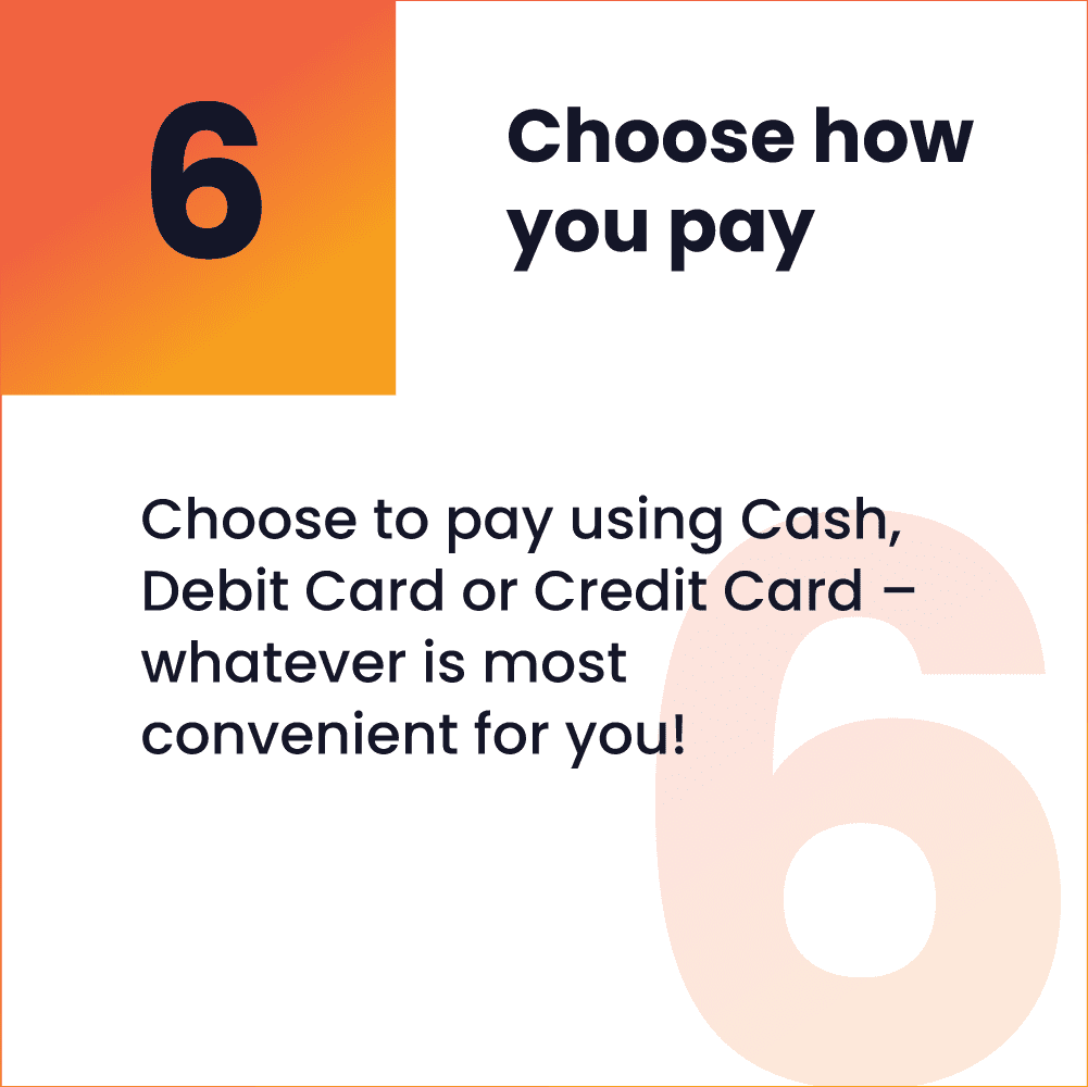 How to pay 8