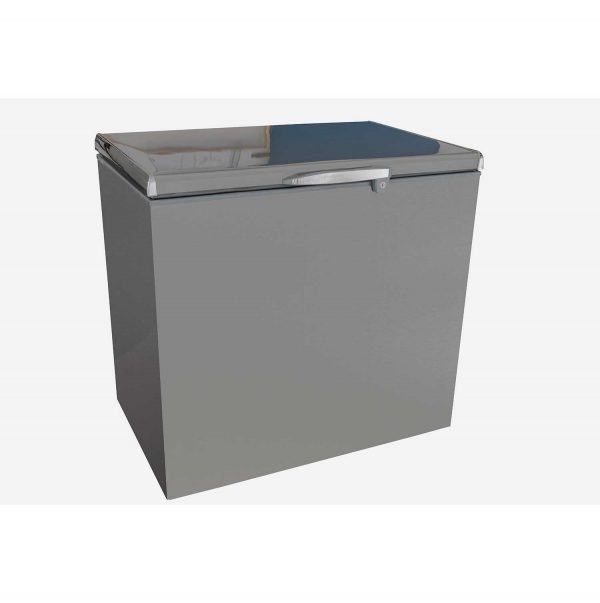 CAPRI 270L RELIABLE CHEST FREEZER METALLIC