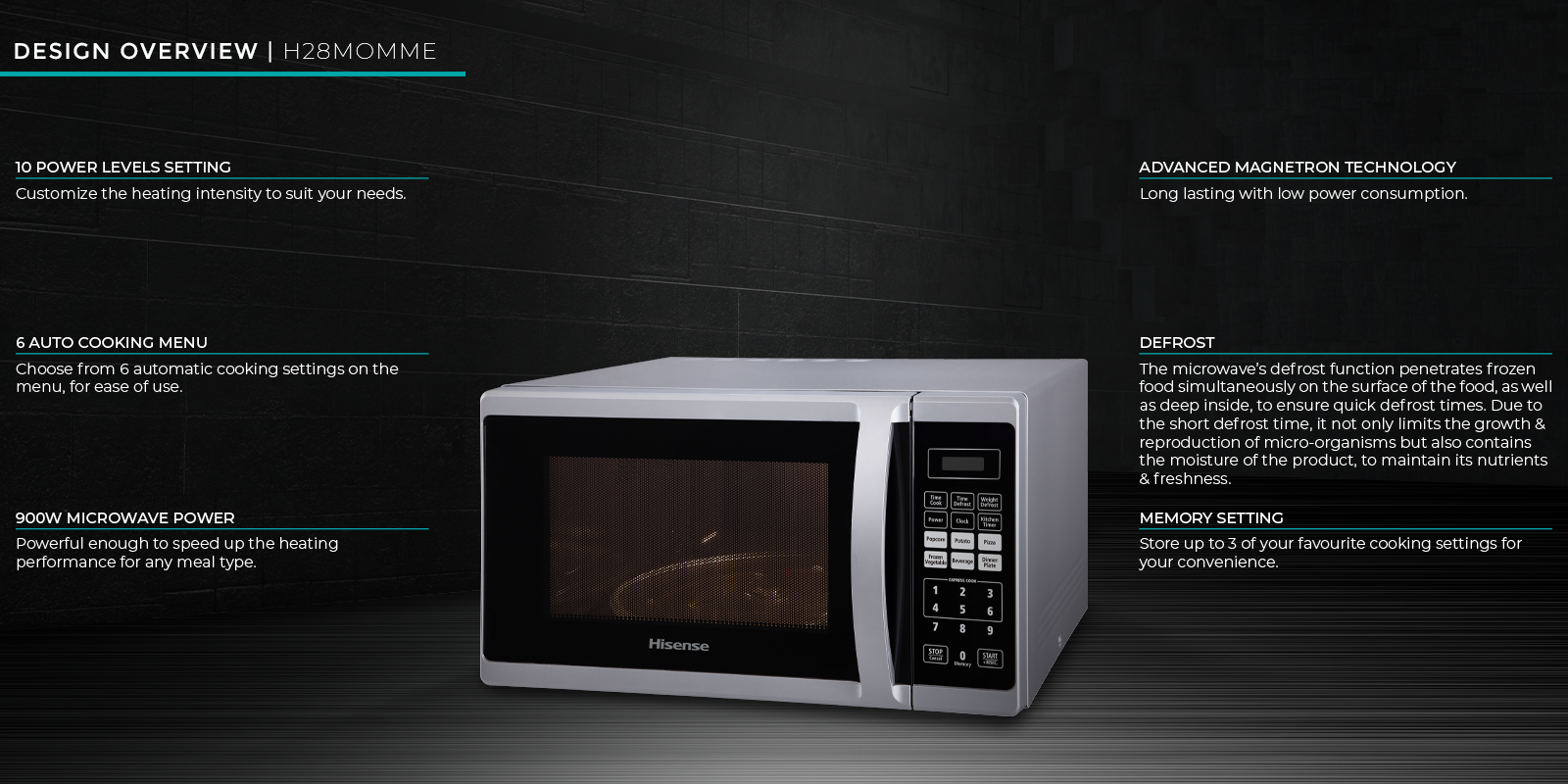 Hisense 28 l Microwave Oven 4