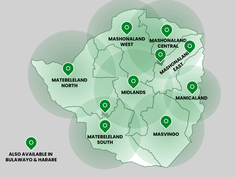 Shumba Africa Pickup Locations